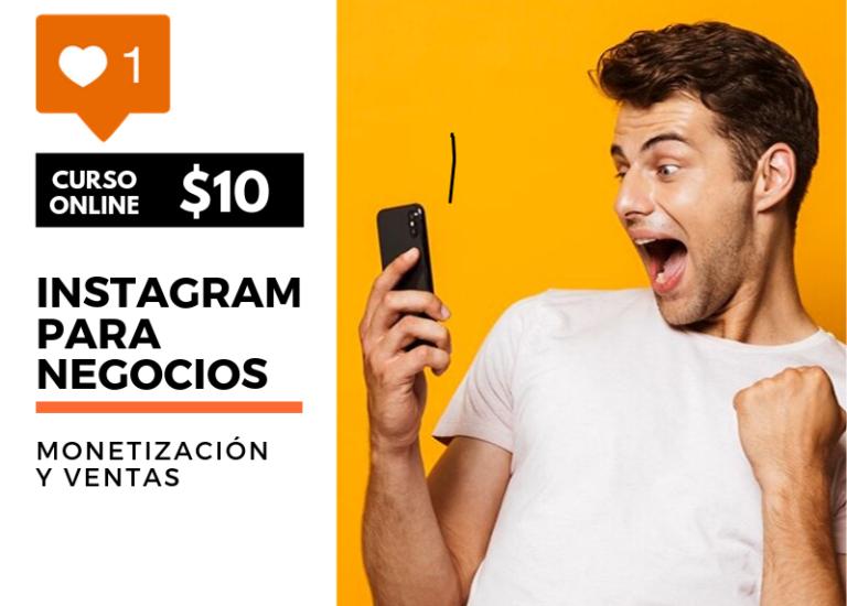 Curso para monetizar y vender en instagram